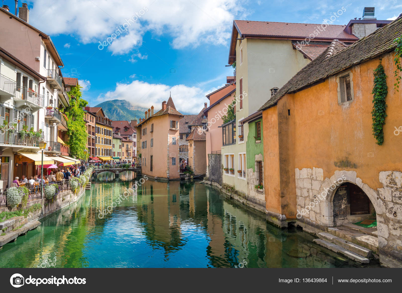 View of the old town of Annecy - Haute-Savoie, France